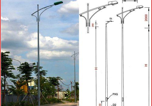 Khoảng cách lắp đặt tiêu chuẩn giữa hai cột đèn chiếu sáng là bao nhiêu mét?