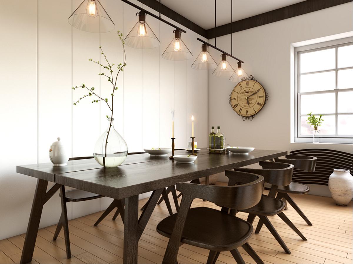 Những lưu ý khi lựa chọn đèn thả để trang trí cho bàn ăn