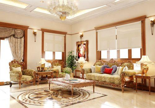 Tư vấn thiết kế phòng khách hiện đại với hệ thống đèn âm trần